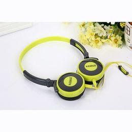 Wholesale Cute Stereo Headphones - KeeKa Headphone With Microphone For Iphone Samsung Cute Music Stereo Mobile Phone Earphone Headset Colorful Headband