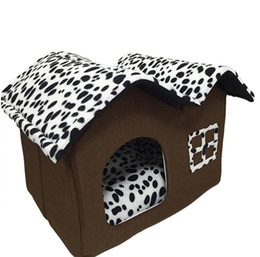 Wholesale New Style Cat Houses - Dog House New PP Cotton Folding Dog Bed For Large Dog House With Mat Pets Product Cats House New Style Free Shipping