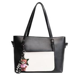 Wholesale Bear Clutch Bag - Designer Bags Famous Brand Women Bags 2017 New Bear PU Leather Ornaments Fashion Female Shoulder Bag Ladies Handbag Clutch Bag