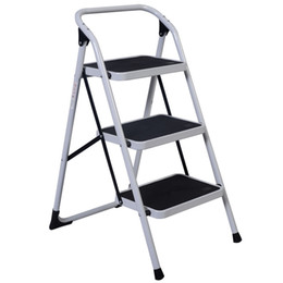 Wholesale Folding Step Ladders - 3 Step Ladder Folding Non Slip Safety Tread Heavy Duty Industrial Home Use New