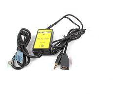 Автомобильный CD MP3 USB адаптер интерфейса AUX In вход для Audi A2 A4 A6 S6 A8 TT S4 S8 с Mini ISO 8P синий разъем от