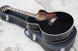 Chitarra artigianale all'ingrosso, classica chitarra acustica stile jumbo classico a 6 corde in legno colore 43 con colore BK, spedizione gratuita da pesca varietà fornitori