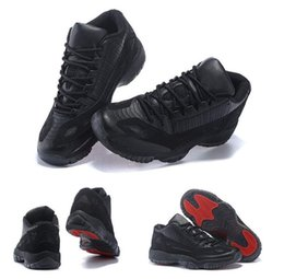Wholesale 36 D - 2017 NEW Retro 11 Low Basketball Shoes Women Men Referee Black True Red Retro XI Sport shoes Size 36-47