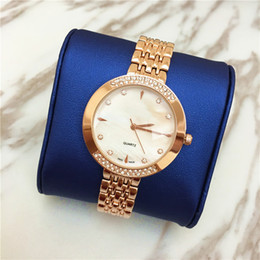 Wholesale high priced watches - High Quality Women Watch Lady Wristwatches Quartz Dress watches Shine Diamond Japan Movement Rose Gold wholesale Price Free shipping Elegant