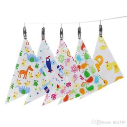 Wholesale Cotton Bib Nursing Towel - NewDHL Baby Bibs Towel Triangle Burp Saliva Burp Cloths cartoon Infant Toddler Bandana Scarf Double Layers Kids Nursing Bibs 46 design B0465