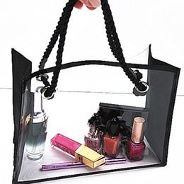 Wholesale Travel Silk Cosmetic Bags - Washing bag travel swimming cosmetic bag transparent splicing waterproof storage bag