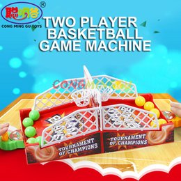 Wholesale Children Playing Basketball - 2016 hot desktop basketball Mini Finger Shoot a basket Child table games Double play interaction toy Model Building Fun toy gift