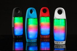 Wholesale Dhl W2 - W2 Bluetooth speaker Dazzle colour flashing speaker outdoor sports portable mini audio player 4 colors DHL free
