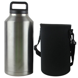Wholesale Wholesale Cup Carrier - 2017 water bottle Bag Case Holder Carrier Sleeve Covers for 18OZ 36OZ 64OZ yeti cups with Strap