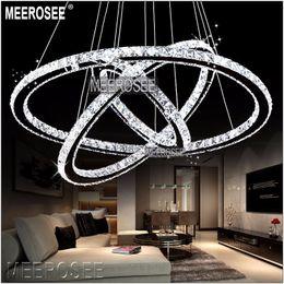 2019 lampade da bar rustiche Lampadari a sospensione a LED moderni con lampadari a forma di cerchio e lampadari a sospensione a LED in cristallo