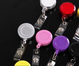 Renkli Yuvarlak Katlanabilir Katı Plastik Kimlik Reel Tutucu Etiket Zinciri Rozet makaraları Tutucu Anahtar Tag Klip 32mm nereden