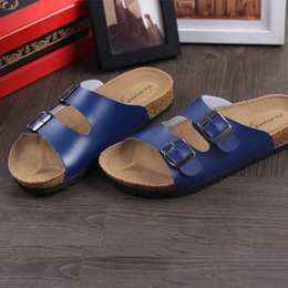 Wholesale Korean Fashion Slippers - Couple cork slippers Male summer beach sandals and slippers non-slip flip Korean version of the trend of casual flip flops sandals women