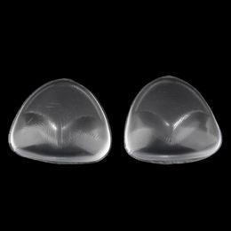Al por mayor-1 par mujeres atractivas Bikini sujetador insertar almohadillas de triángulo de silicona estimulador del pecho traje de baño empujar-up Shippping gratis nueva calidad caliente desde fabricantes