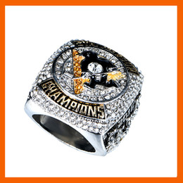 Wholesale Horn Cups Wholesale - Wholesale- READY MADE 2016 PITTSBURGH PENGUINS STANLEY CUP SCORES ENGRAVED CHAMPIONSHIP RING WITH HIGH QUALITY REPLICA MEN JEWELRY