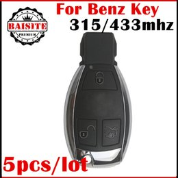 Wholesale Mercedes Key For Smart - Best Quality 5pcs lot For Mercedes Benz Smart car remote Key 3 Button 433MHZ 315MHZ (2005-2008) complete with battery and nec chip