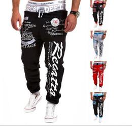 Wholesale Wide Leg Sweat Pants - Wholesale-New Arrival Men's Letter Printed Sport Sweat Pants Jogging Trousers Tracksuit Bottoms Fashion Leader' Choice size M-2XL