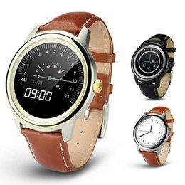 Wholesale Handsfree Camera - Simple Thin DM365 Round Screen Handsfree Smart Watch Bluetooth 4.0 MTK2502 Smartwatch Sync Call for IOS Android SmartPhone VS DM360 Free DHL