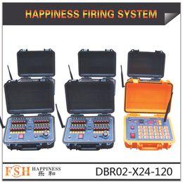 Aprobado CE + DHL / FedEx Envío gratuito +120 señales Recargable 300 ~ 500M Control remoto de cable Sistema de encendido de fuegos artificiales DBR02-X24-120 desde fabricantes