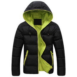 Wholesale Mens Slim Handsome - 2016 new winter men's hooded cotton male New thick warm male Korean handsome man coat coat Cotton Mens gentleman