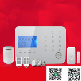 Wholesale 99 Zone Wireless Alarm - remote control 99 wireless zones app touch keypad perimeter security PSTN alarm gsm casa console with motion detector