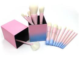 Wholesale Toner Powder Wholesalers - makeup brushes sets Free shipping hot NEW Makeup Brush Foundation Powder Blush 14 pieces Makeup Tools Brush Gradient Toner