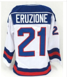 Wholesale Usa Vintage - Ice Hockey Jersey Vintage 1980 Miracle On Team USA Mike Eruzione