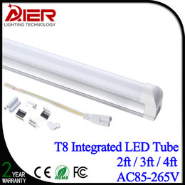 Wholesale Cooler Installation - Free shipping Integrated T8 led tube 2ft 3ft 4ft with accessories, easy installation without extra fixture