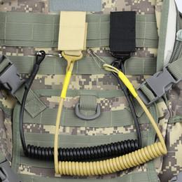 Wholesale Tactical Pistol Sling - 1pcs Tactical Pistol Lanyard Sling Elastic Handgun Secure Spring Retention Rope Sling