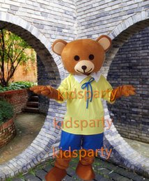 Wholesale Teddy Bear Mascot Suit - Teddy Bear Mascot Costume Fancy Dress Outfit Suit