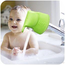 Wholesale Spout Cover - 20pcs lot Super Ultra Soft Bath Spout Cover Bar Tap Elephant Collision Angle Washable Flexible Mold BLUE GREEN for choose free shipping #918