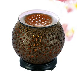 Wholesale Electric Aroma Lamps - Wholesale- Creative Electric Fragrance Diffuser Aromatherapy Humidifier Ceramic Fragrance Lamp Essential Oil Warmer Burner Aroma Therapy