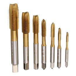 Wholesale Left Hand Thread - 7pcs M3 to M12 HSS Metric HSS Left Hand Thread Tap Metric Plug Tap Drill Bits