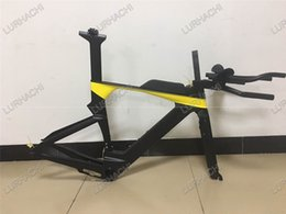 Wholesale Time Tt Frames - 2017 Newest TT Road Bike Frame Time Triathlon Bicycle Carbon Frame+fork+seat post+headset+TT handlebar