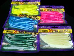Wholesale Deep Lures - Fishing Soft Bait Lure Artificial 7cm 10cm Loach 10 Pieces Bag Single Sharp Tail Worm Real Sens Natural Attractant Deep Instinct