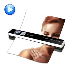 Wholesale Feed Lines - Wholesale- portable scanner skypix TSN480 automatic feeding HD 1200dpi A4 file Automatic photo clipping send otg Data line