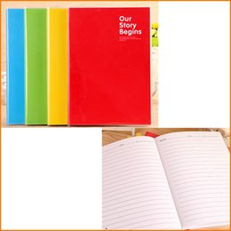 Wholesale blue accounting - A5 Candy Color Portable Record Book Writing Journal Notepad, Travel Daily Memos Financing Notebook, Gift for Students Children