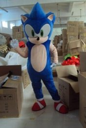 Wholesale Sonic Hedgehog Costume Adults - adult size Sonic blue hedgehog mascot costume party outfit