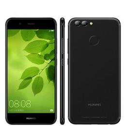 Wholesale Three Sim Card Mobile Phones - Original Huawei Nova 2 4G LTE Mobile Phone Kirin 659 Octa Core 4GB RAM 64GB ROM Android 7.0 5.0 inch 2.5D Glass 20MP Three Camera Cell Phone