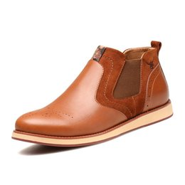 Wholesale Inside Sole - Excellent quality leather, non-slip rubber outsole leather, tendon soles,Sets foot high wall Pigskin inside England Casual
