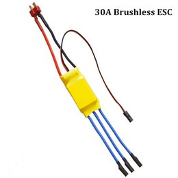 Wholesale Speed Controller Esc Brushless - 2016 Rushed Direct Selling Airplanes Metal free Shipping Rc Bec 30a Esc Motor Speed Controller Brushless 30 A 40 Yellow Black Colors Drop