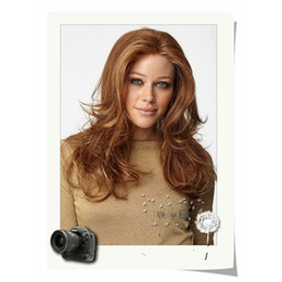 Wholesale Blonde Wigs Bangs - European Women Long Body Wave Blonde Inclined Bang Natural Wigs High Tempreture Resistant Synthetic Hair Lady Blonde Cosplay Wigs