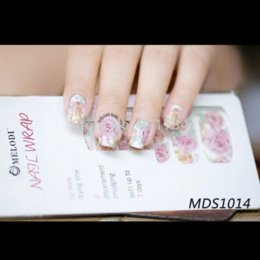 Wholesale 16 Nail Sticker - see details 16 pcs strips press fashion fantasy rose mds series 3d wrap nail art polish stickers love see details MELODI-1014