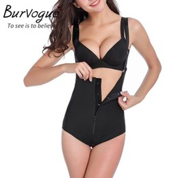Wholesale Tummy Girdle Waist Trimmer - Wholesale-Burvogue Hot Women Slimming Short Waist Body Shaper and Tummy Trimmer Firm Control Waist Cincher Shaper Belt Underwear Girdles