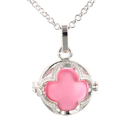 Wholesale Bola Silver Pregnancy Necklace - 2016 hot Harmony Bola ball pendant Pregnancy necklaces four leaf necklace free ship
