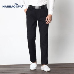Wholesale Jacquard Formal Dresses - Straight Formal Business Mens plaid Pants Wedding Dress Pants Fashion Slim Fit jacquard Casual Groom Trousers Masculina Men's clothing