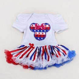 Wholesale fart bags - new arrivals American Flag 4th of July Independence Day baby tutu dress American flag dress BABY Bag fart skirt free ship