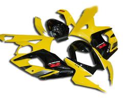 Wholesale Gsxr Black Yellow - 4 Gifts New ABS Bodywork Fairing For SUZUKI GSXR1000 05 06 GSXR-1000 GSX-R1000 K5 GSXR 1000 2005 2006 05 06 Fairings yellow black
