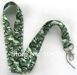 Wholesale Camouflage Lanyards - 2016 30pcs Camouflage rope MP3 4 cell phone  keychains  Neck Strap Lanyard WHOLESALE Free shipping