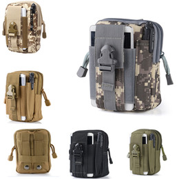 Wholesale Rugby Popular - Free DHL Most Popular EDC Pouch Utility 5 Colors Camo Bag Military Nylon Tactical Waist Pack Joging Bag Outdoor Essential E595E
