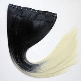 Ponytails 613 on-line-Clipe de Rabos De Cavalo sintéticos no cabelo 120g 22 polegadas ombre 1B613 duas cores extensões de cabelo em linha reta venda quente